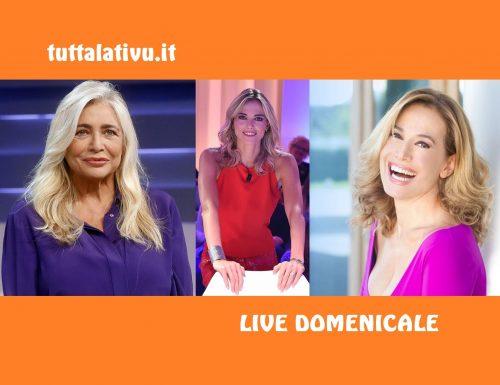 Live 19 gennaio 2020: #DomenicaIn e #DaNoiaRuotaLibera, in onda su Rai1, vs #DomenicaLive, in onda su Canale5