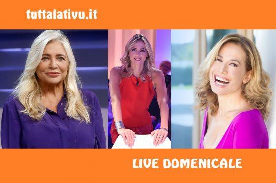 Live 12 gennaio 2020: #DomenicaIn e #DaNoiaRuotaLibera (su #Rai1) vs #DomenicaLive (su #Canale5)