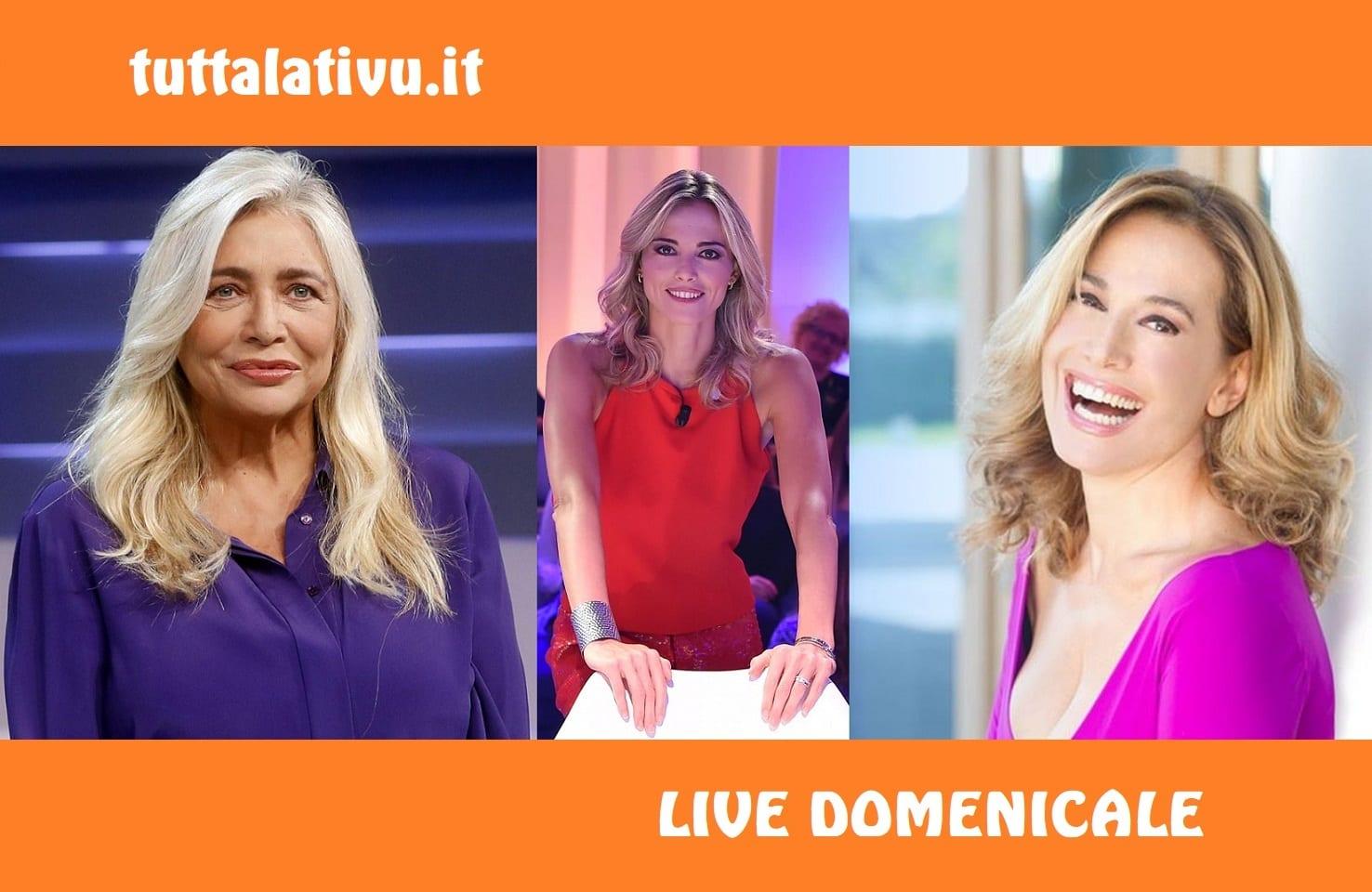Live 23 febbraio 2020 Domenica Ammiraglia su Rai1 e Canale 5