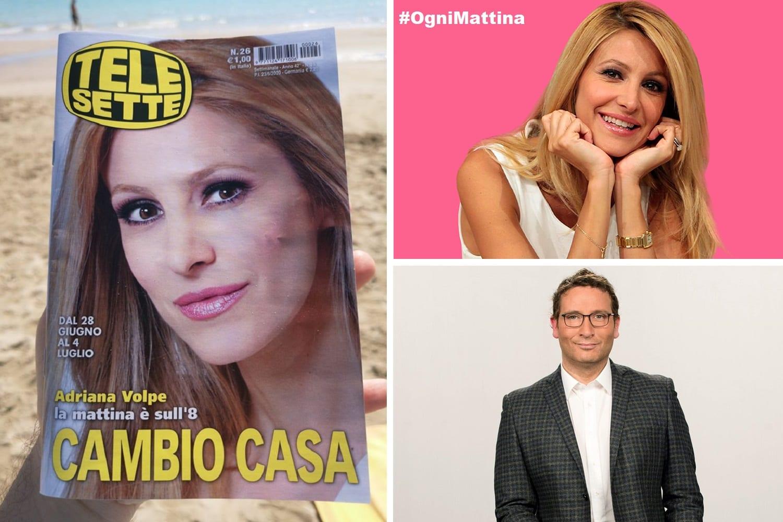 Ogni Mattina su TV8. Su TeleSette, Adriana Volpe guadagna la copertina