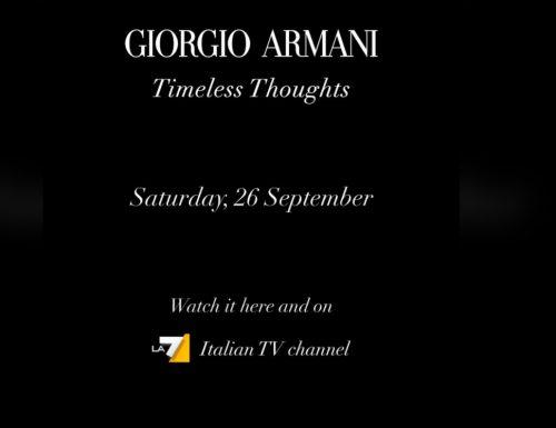 Stasera alle 21.15 su #La7 la sfilata-evento #GATimelessThoughts di Giorgio Armani