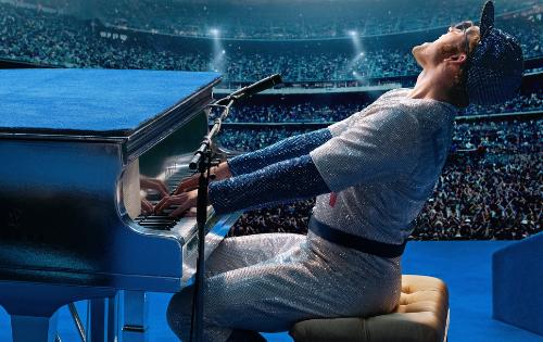 Stasera, in prima serata su #Canale5, il film #Rocketman: prima visione deluxe dedicato a Elton John
