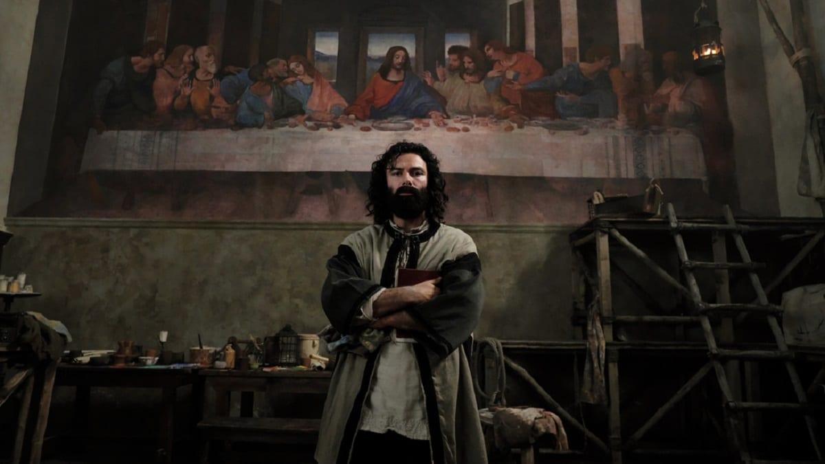 Titoli di coda · Leonardo ultimo appuntamento. Con protagonista Aidan Turner, in prima visione assoluta, in anteprima mondiale su RaiUno