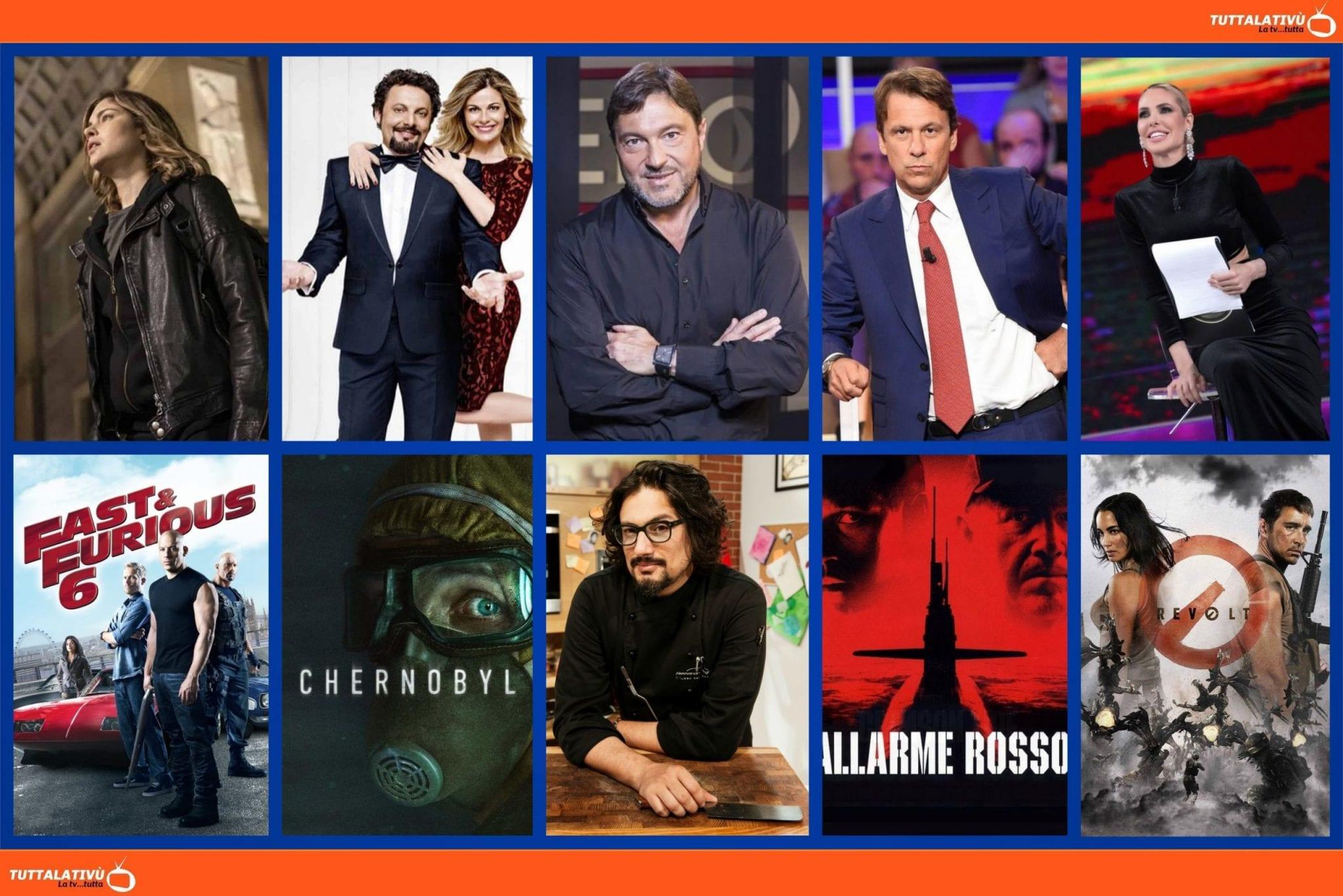 GuidaTV 19 Aprile 2021 · La fuggitiva, L'Isola dei famosi, Report, Fast & Furious 6, Tutte lo vogliono, Quarta Repubblica, la serie Chernobyl, Revolt