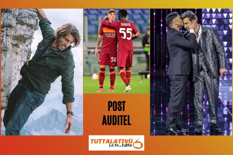 AscoltiTV 6 maggio 2021: Un passo dal cielo 6, il meglio di Felicissima Sera, l'Europa League con l'eliminazione della Roma, Dritto e rovescio