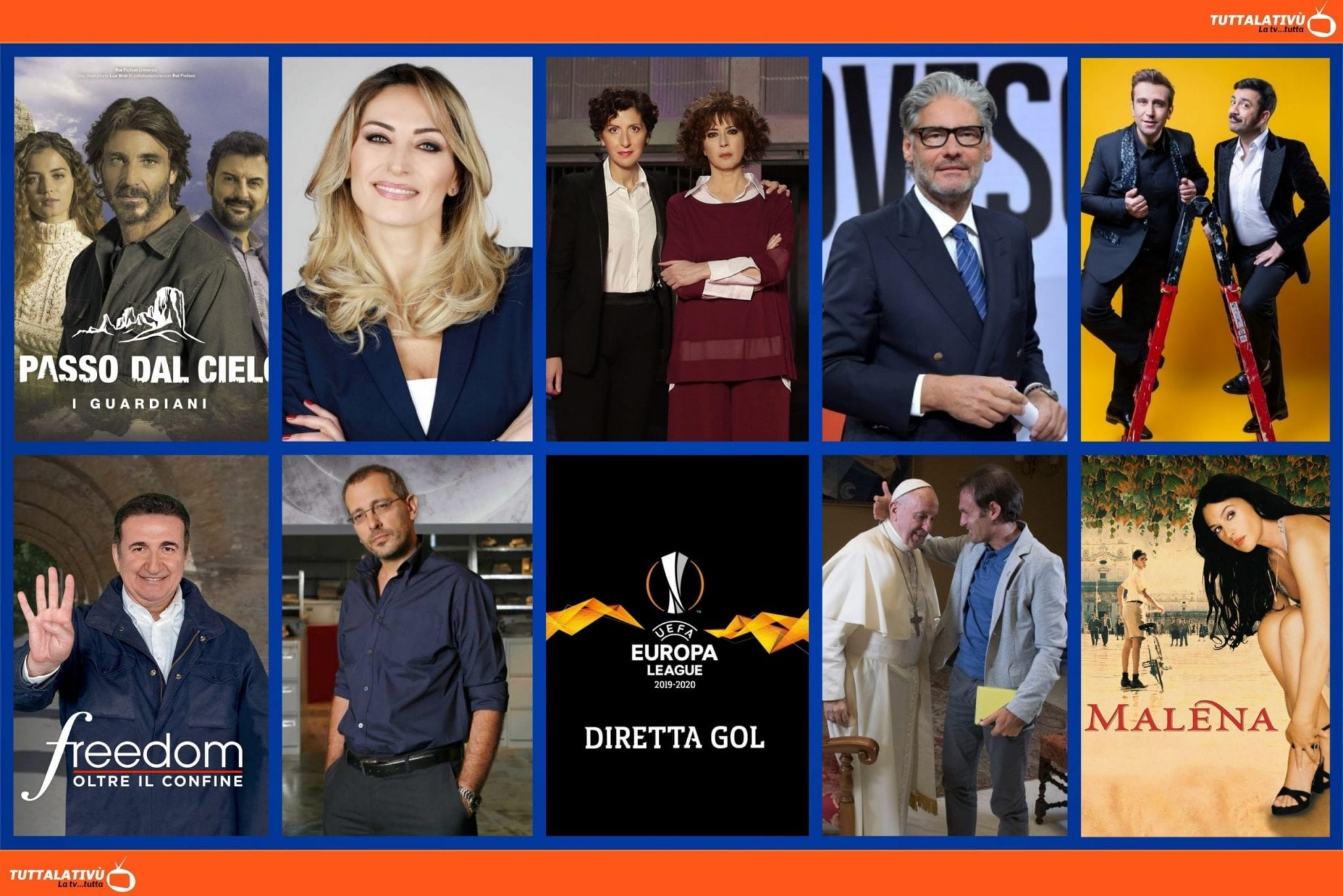 GuidaTV 6 Maggio 2021: Il meglio di Felicissima Sera, Un Passo Dal Cielo 6, Amore Criminale, Diretta Gol per l'Europa League, Malena (su Cine34)