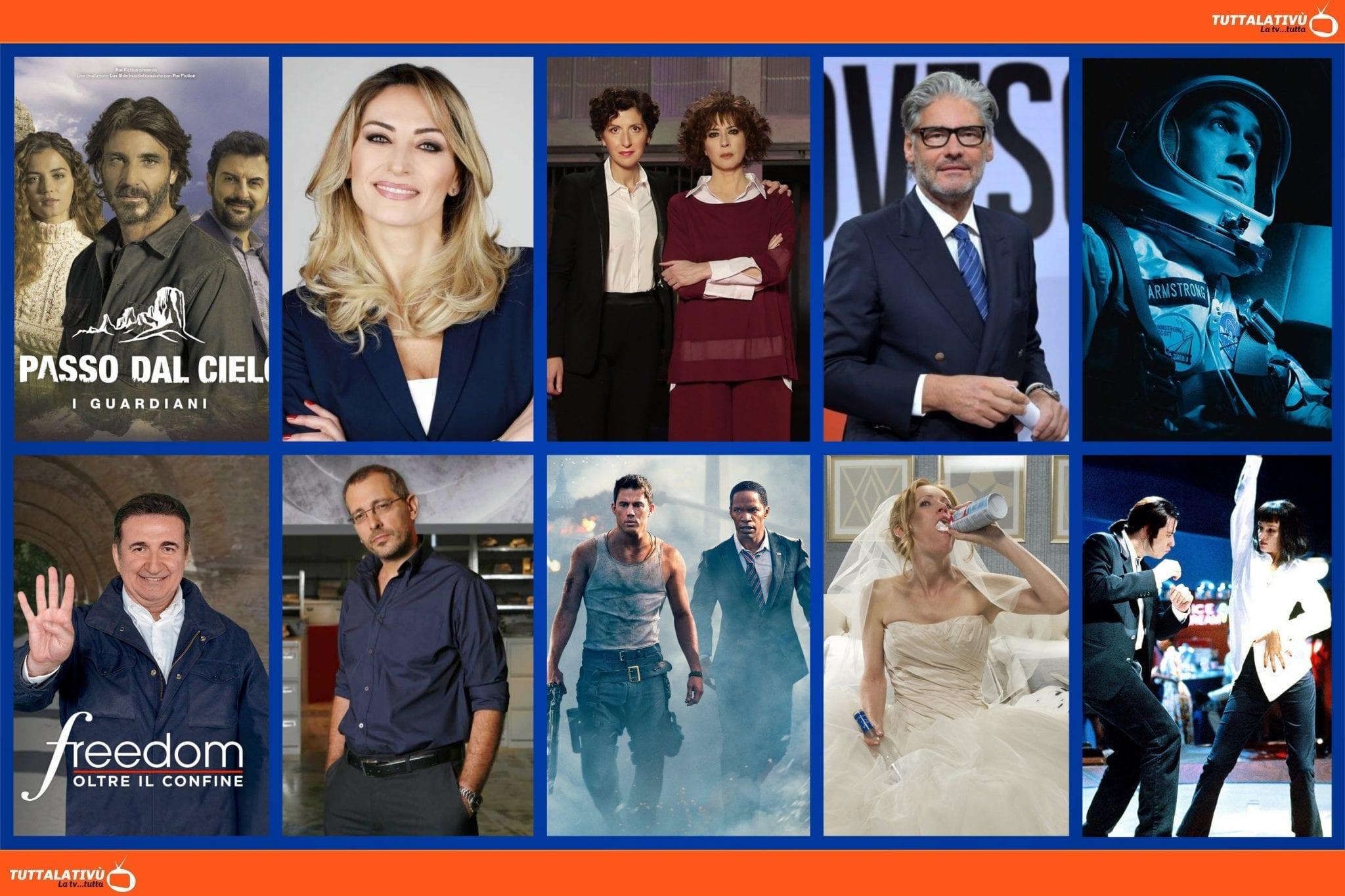 GuidaTV 13 Maggio 2021: Un passo dal cielo, First Man: Il primo uomo, Amore criminale, Dritto e rovescio, Piazzapulita, White House Down, Pulp Fiction