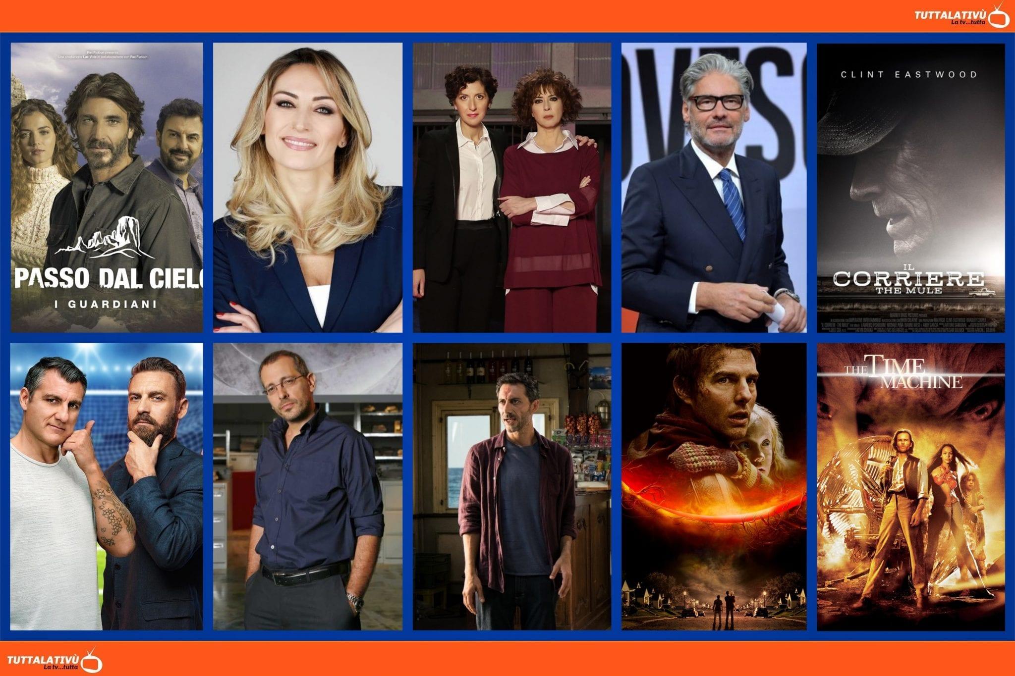 GuidaTV 20 Maggio 2021: Un passo dal cielo, The Mule, Amore Criminale, Gillette Bomber & King, I delitti del Barlume, La guerra dei mondi, The Time Machine