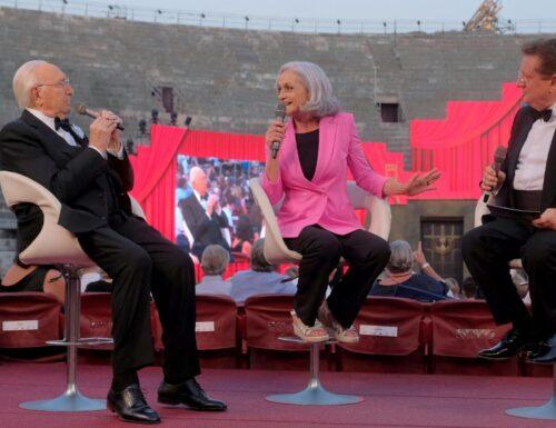 Da stasera su #Rai3 arrivano tre grandi opere dall'Arena di Verona con Pippo Baudo e Antonio Di Bella