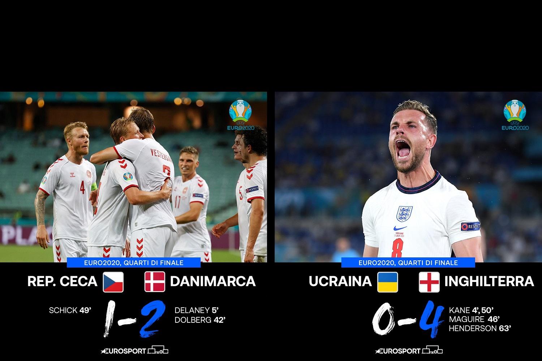 AscoltiTV 3 luglio 2021: Ultimi quarti di finale di Euro 2020, con Repubblica Ceca vs Danimarca e Ucraina vs Inghilterra, The Winner Is, Una Vita, il Tour de France