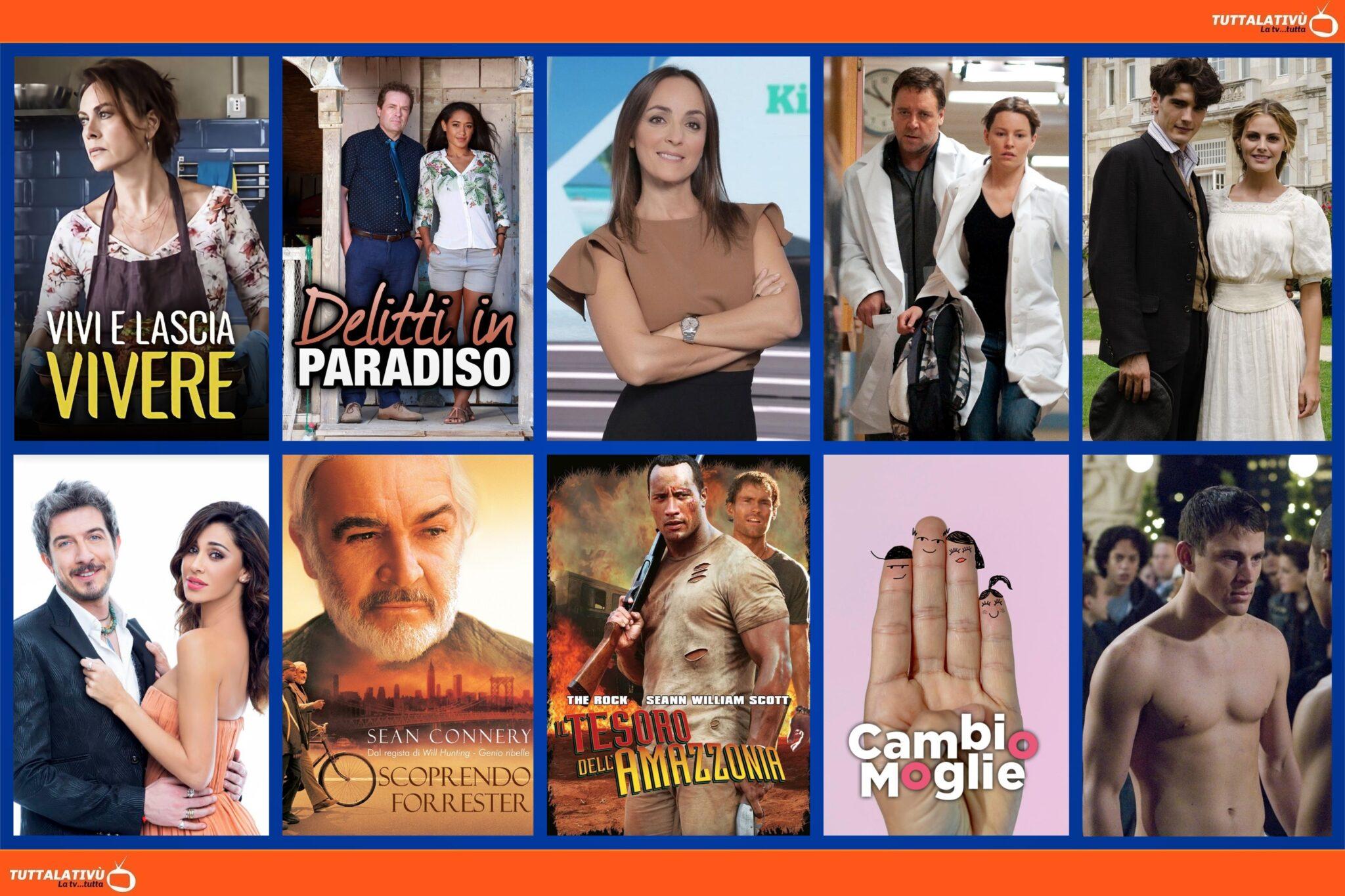 GuidaTV 18 Luglio 2021: Vivi e lascia vivere, tra Grand Hotel, Delitti in Paradiso, Kilimangiaro, Colorado,The Next Three Days e Fighting