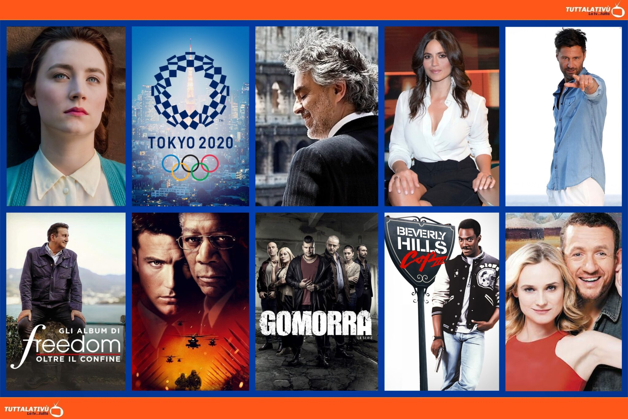 GuidaTV 26 Luglio 2021: Temptation Island, Brooklyn, le Olimpiadi di Tokyo 2020, Andrea Bocelli, la novità Controcorrente, Un piano perfetto (Iris)