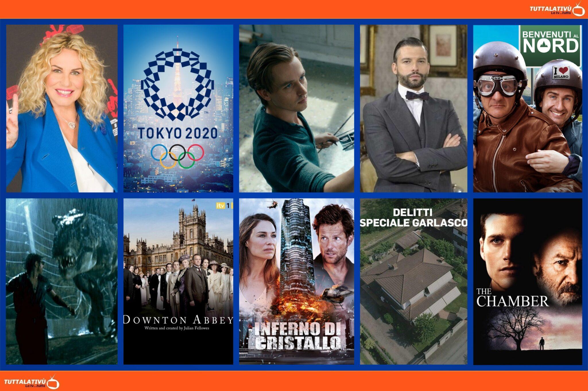 GuidaTV 24 Luglio 2021: Le Olimpiadi di Tokyo 2020, The Voice Senior, Benvenuti al Nord, Una Vita, Jurassic Park, Opera senza autore, L'ultimo appello