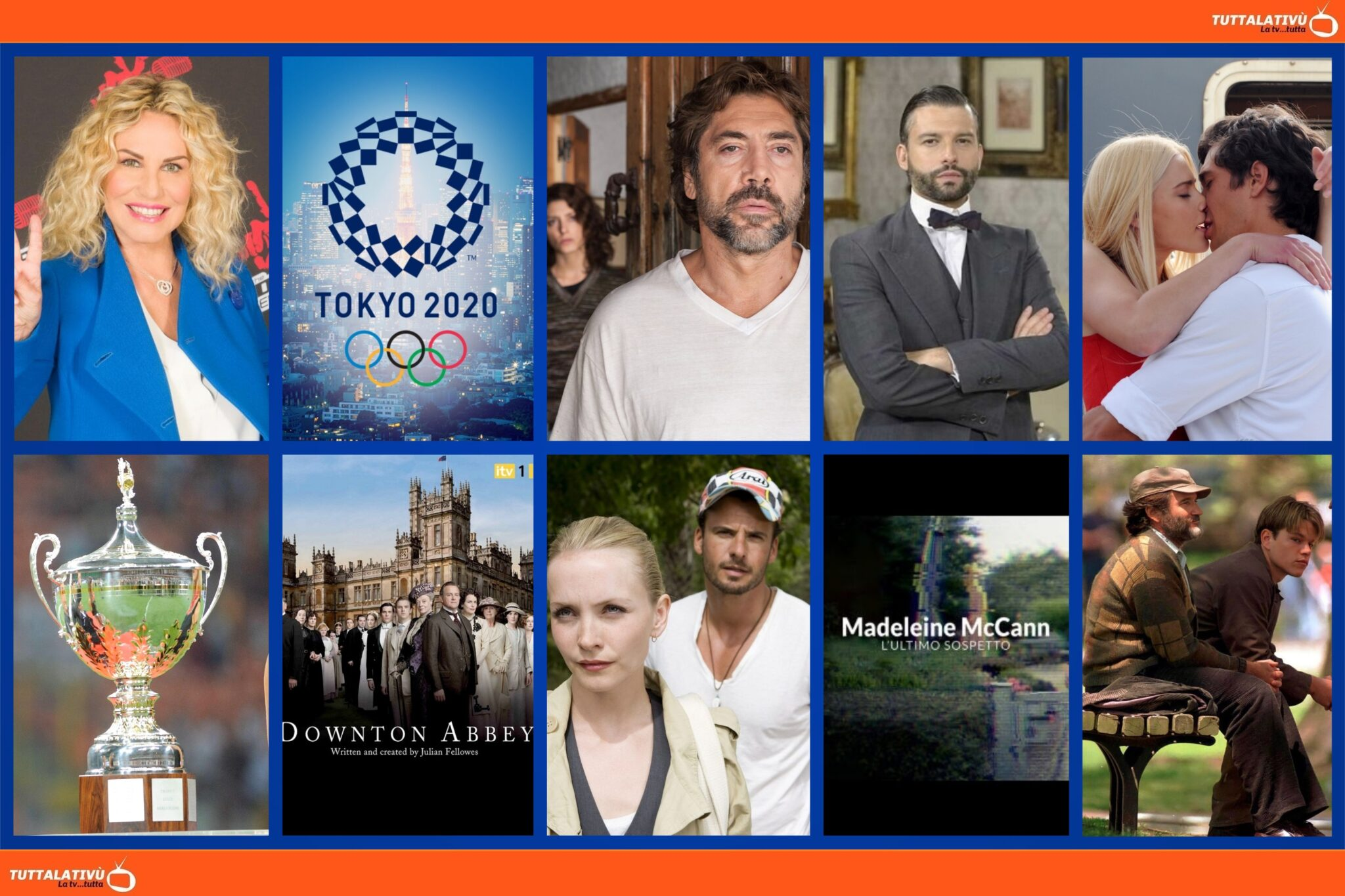 GuidaTV 31 Luglio 2021: Tokyo 2020, The Voice Senior, Sapore di te, Trofeo Luigi Berlusconi, Una Vita, Tutti lo sanno, Dowton Abbey, Will Hunting