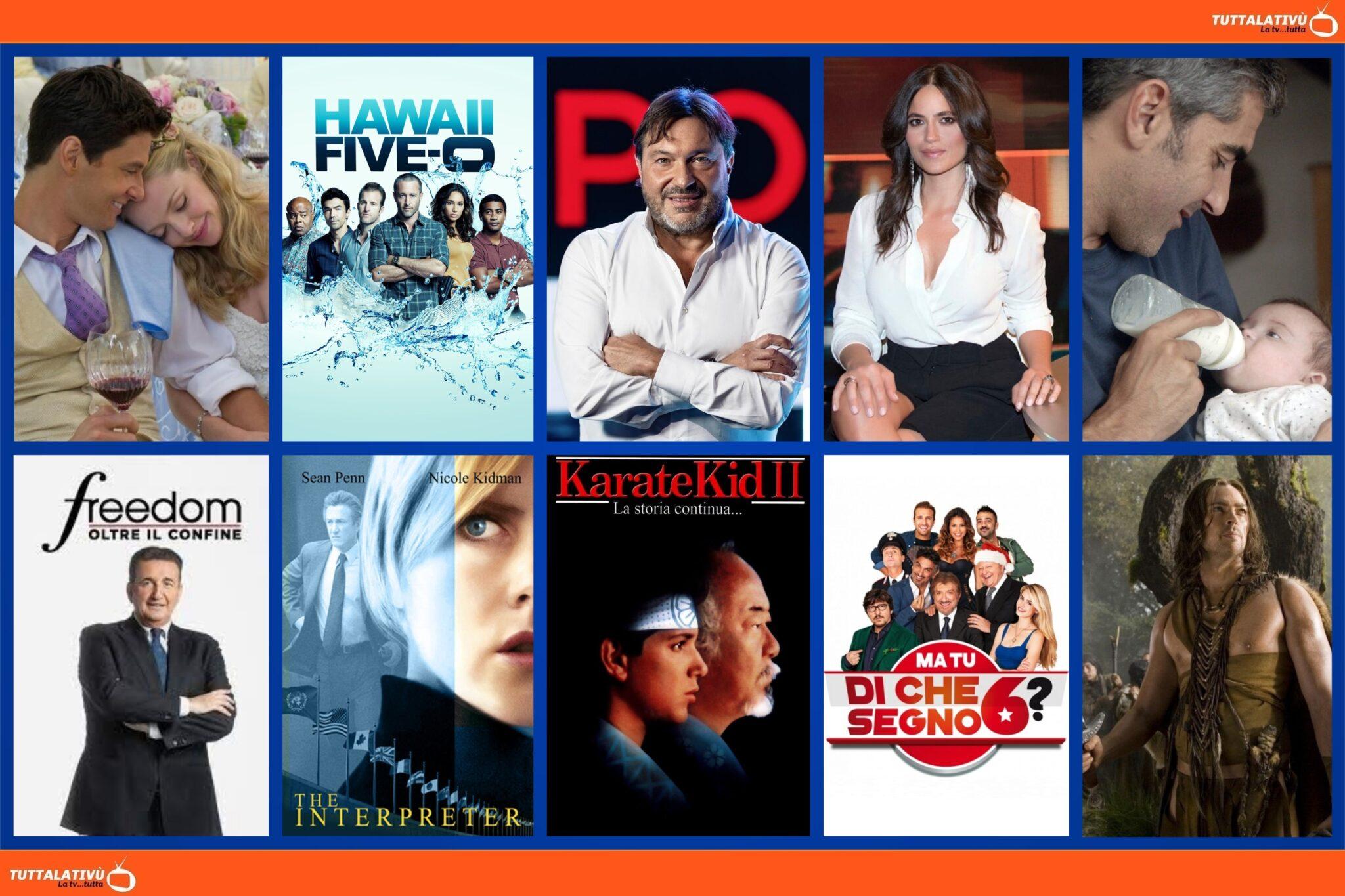 GuidaTV 23 Agosto 2021: Imparare ad amarti, Big Wedding, la serie tv Hawaii 5O, Report, Controcorrente, Freedom, The Interpreter, Pathfinder (su Rai4)