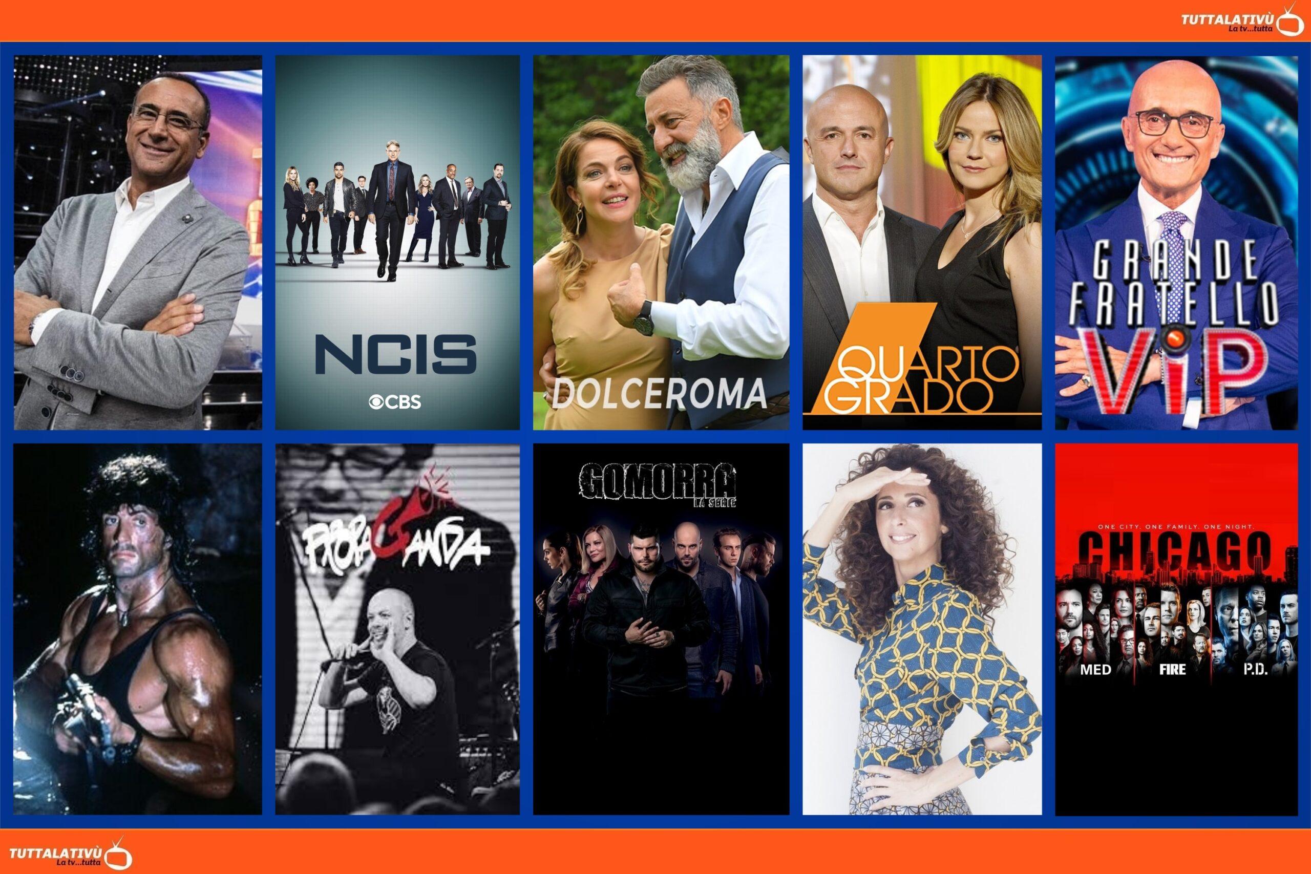 GuidaTV 17 Settembre 2021: Prima vera sfida tra Tale e quale show e Gfvip, Quarto grado, Dolceroma, Propaganda live, One Chicago (TopCrime)