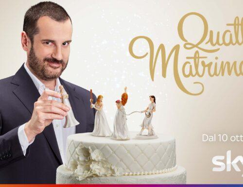 A ottobre su #Sky arriva lo show #QuattroMatrimoni: al timone Costantino della Gherardesca