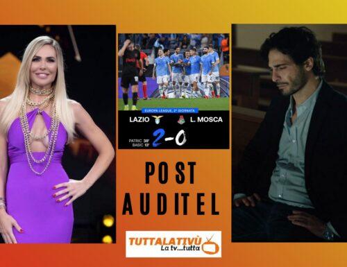AscoltiTV 30 settembre 2021 · Fino all'ultimo battito (18,80%), Star in the Star (10,59%), Dritto e rovescio (5,59%), Piazzapulita (6,62%), Lazio vs Lokomotiv (3,86%), Beautiful (18,59%)