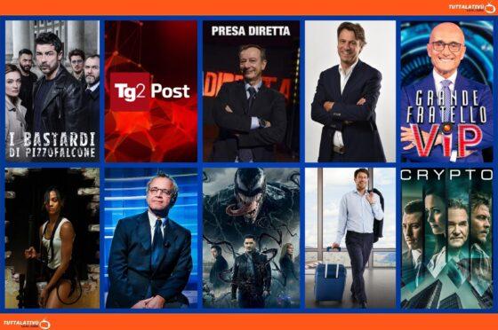 TuttalaTivu · GuidaTV 18 Ottobre 2021: GFVip, tra I Bastardi di Pizzofalcone, tutti gli speciali sulle Elezioni Amministrative con i Ballottaggi 2021, Colombiana e Crypto (Cielo Tv). Vincitori speciale Copio Share di Star in the Star