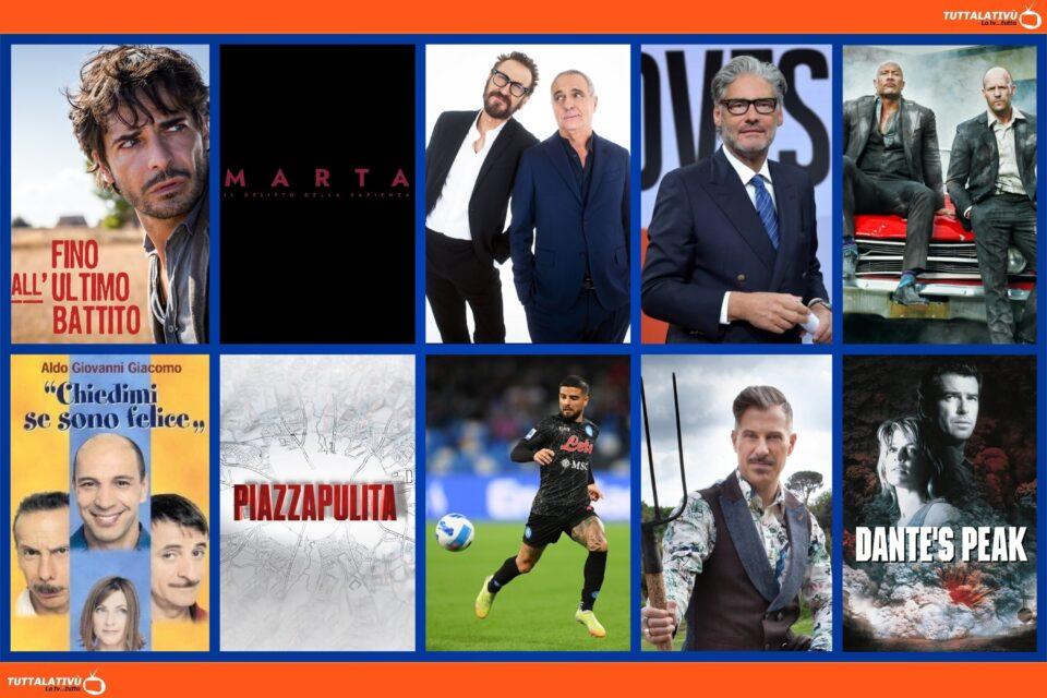 GuidaTV 21 Ottobre 2021: Fino all'ultimo battito, F&F: Hobbs & Shaw, Lui è peggio di me, Dritto e Rovescio, Piazzapulita, Dante's Peak (20 Mediaset)