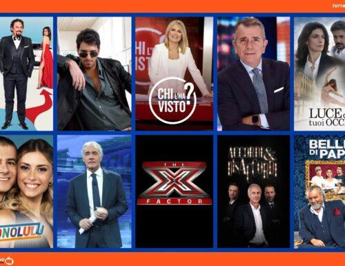 TuttalaTivu · GuidaTV 13 Ottobre 2021: Tutta un'altra vita vs Luce dei tuoi occhi, L'ispettore Coliandro, Chi l'ha visto?, Non è l'Arena, X-Factor 15 e la pellicola Belli di papà (su Cine34)